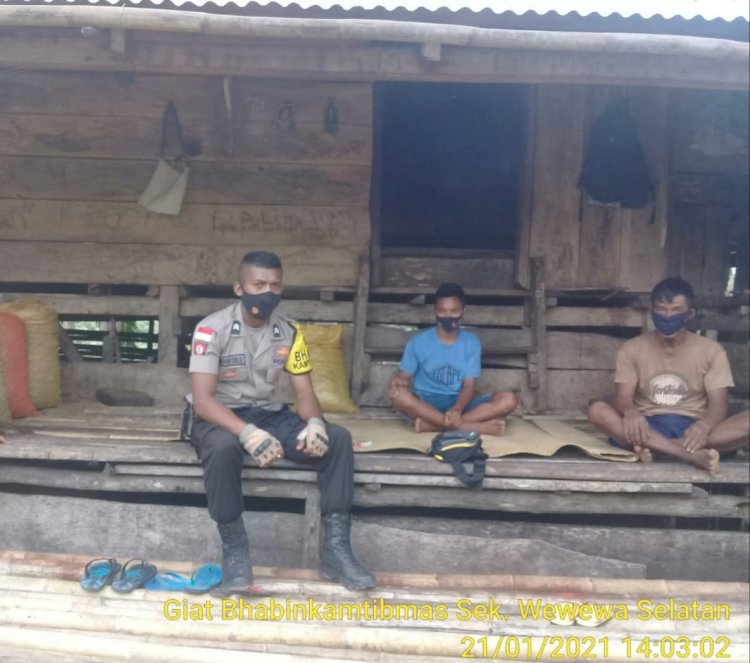 Berikan Rasa Aman, Para Bhabinkamtibmas Laksanakan Sambang Di Desa Binaannya