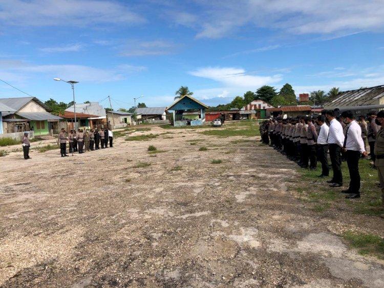 Sebanyak 144 Gabungan Personel TNI-Polri Dan Instansi Terkait Melaksanakan Apel Gelar Pasukan Kesiapan Dalam Rangka Pengamanan Perayaan Semana Santa Ranakah 2021