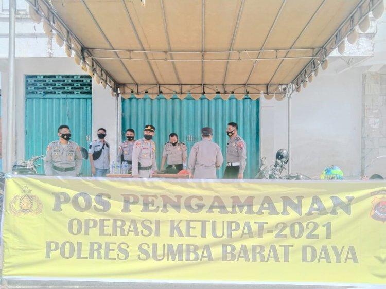 Kabag Ops Polres Sumba Barat Daya Cek Kesiapan Pos Pam Operasi Ketupat Ranakah -2021 Jelang Hari Raya Idul Fitri 1442 H