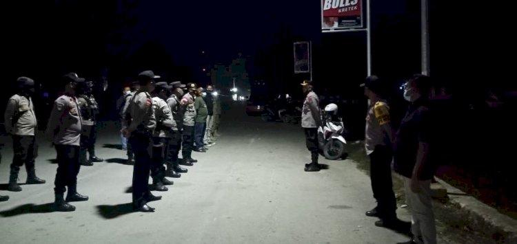 Patroli Skala Besar PPKM Darurat Polres Sumba Barat Daya